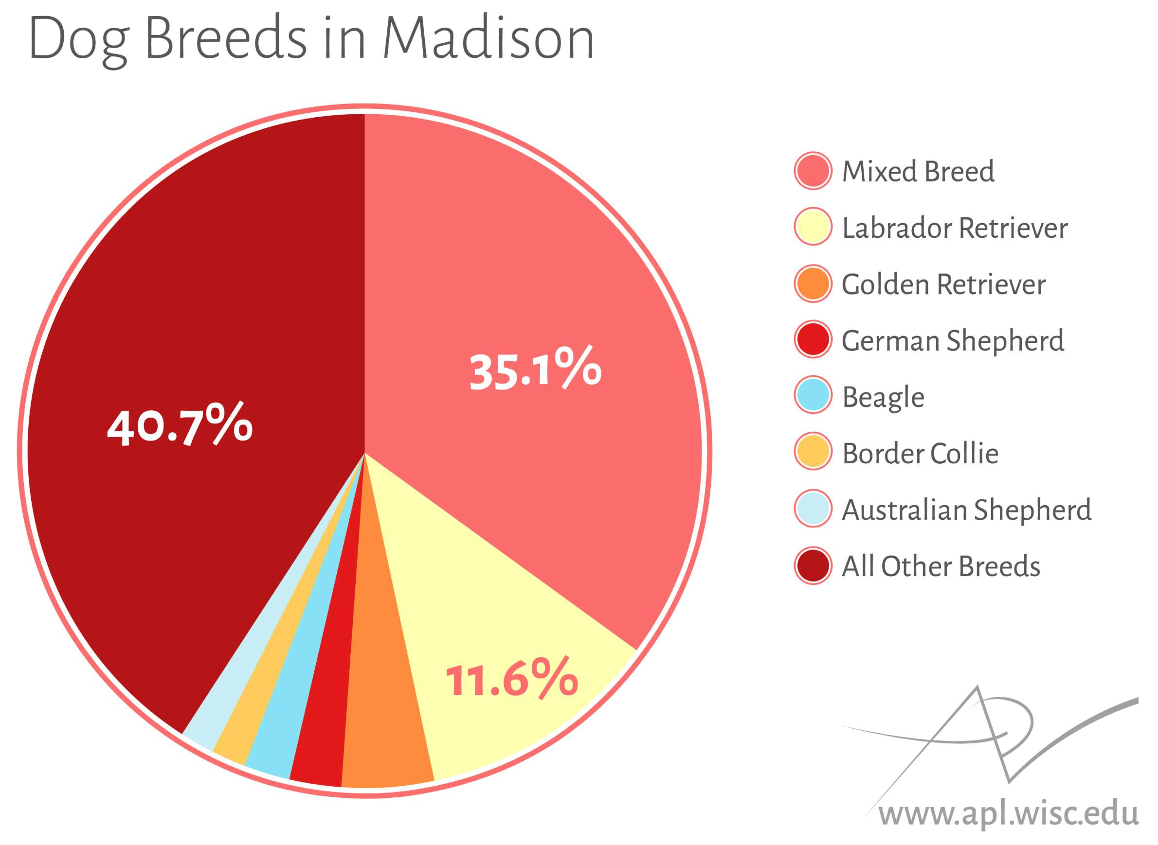 Madison is a big dog town wiscontext caitlin mckownuw applied population laboratory a pie chart nvjuhfo Choice Image
