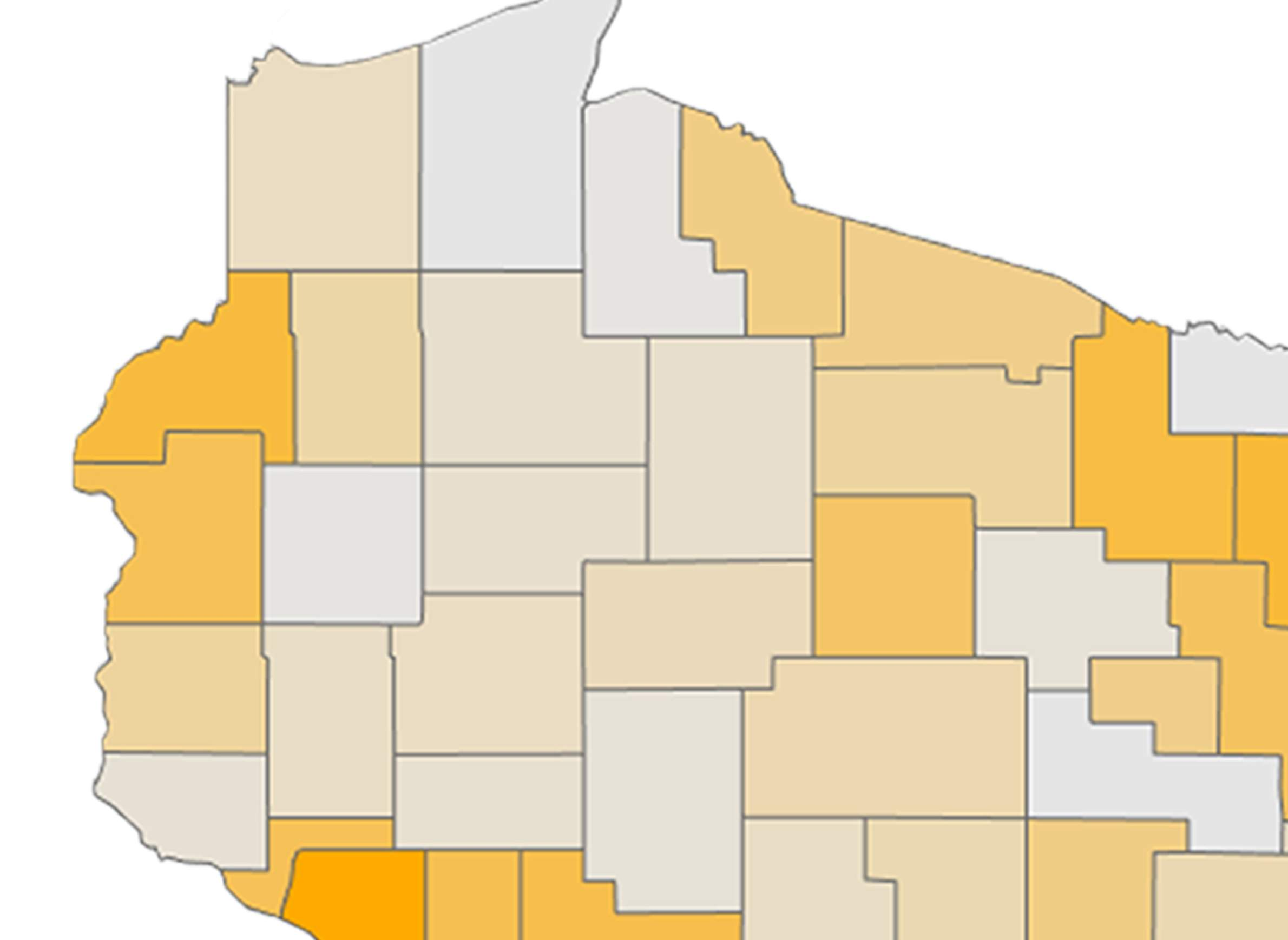 Youth suicide rates by county