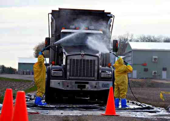 farm truck decontamination